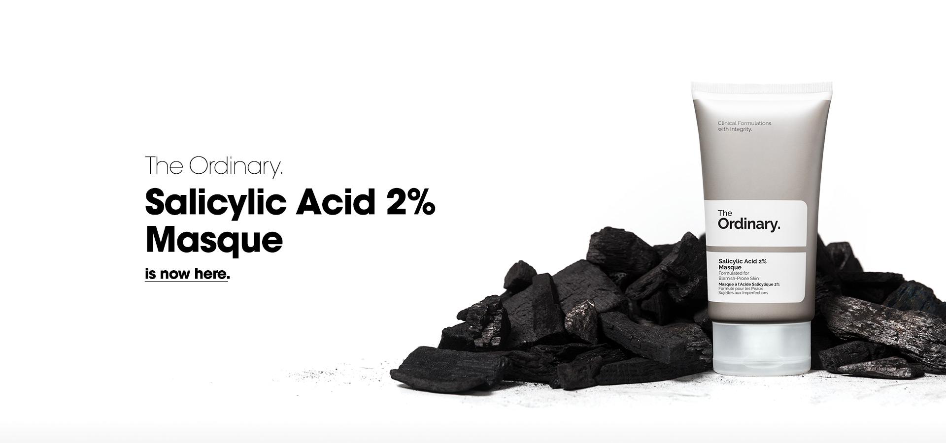 Deciem旗下品牌The Ordinary直接以成分及濃度作為產品名稱,如這是一款「含有2%濃度水楊酸的面膜」。